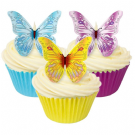 Assorted Colours Butterfly Edible Wafer Decorations